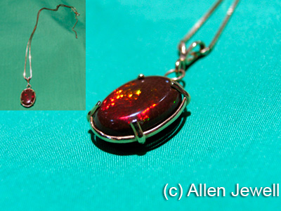 Red Fire Opal Necklace